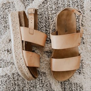Soda Tan Platform Espadrille Sandals